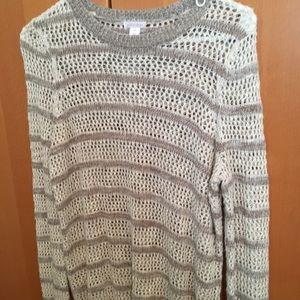 Cream and Tan Sweater Xhilaration size Small